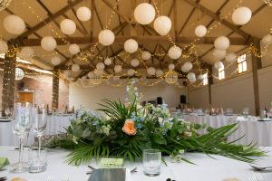Wedding decor at Barmbyfield Barns